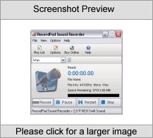 RecordPad Sound Recorder Screenshot